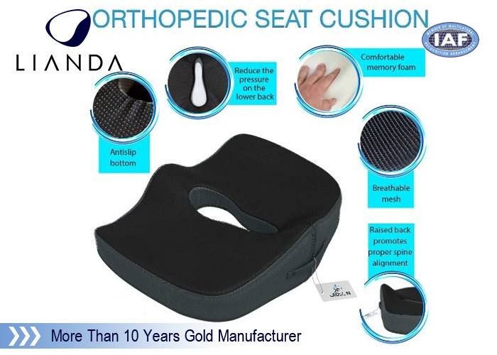 Enhanced Memory Foam Cushion Relief For Orthopedic Coccyx , Back , Sciatica