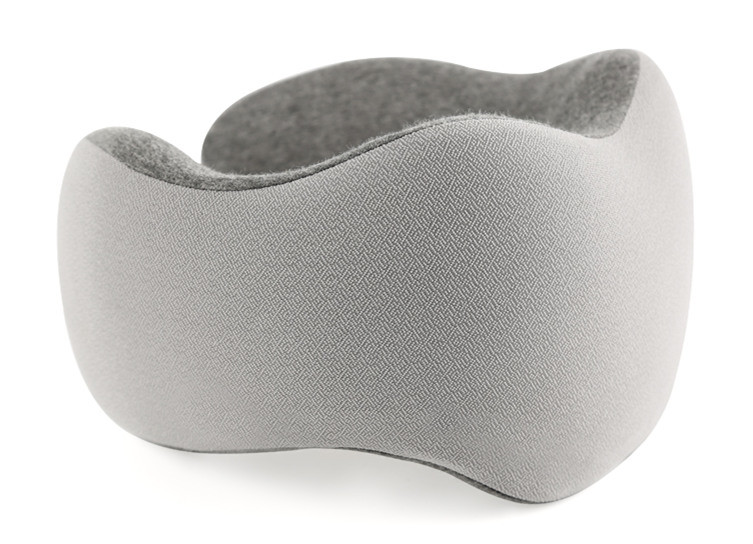 100% Pure Memory Foam Travel Neck Pillow U1 Travel Non - Fluff Fabric Outer Cover